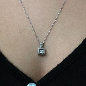 Vintage MK 10k Gold Diamond Pendant 14k Necklace